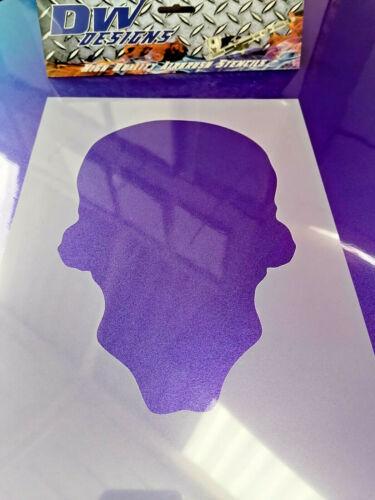 Evil skull airbrush art craft mylar stencil