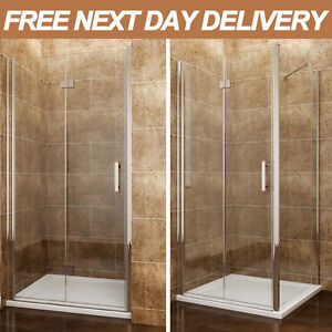 Frameless Bifold Shower Door Enclosure Side Panel And Tray 6mm ...