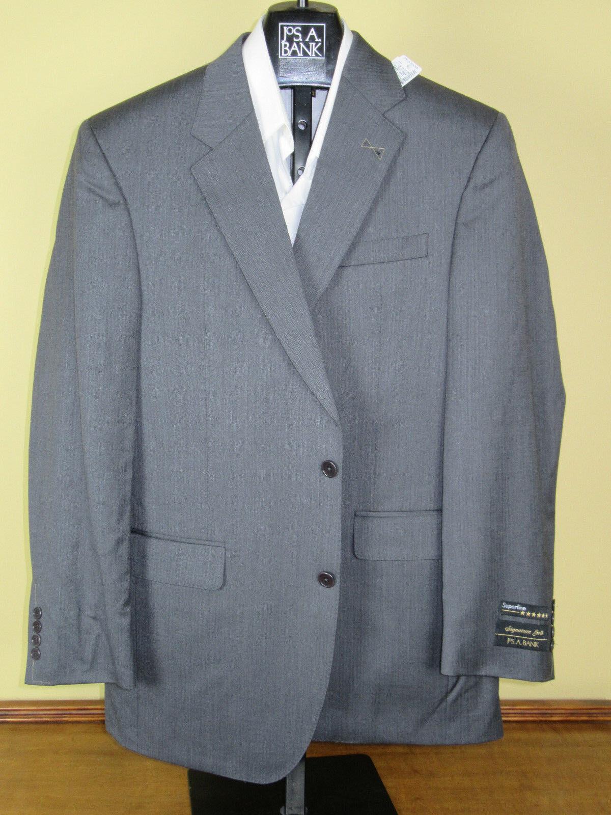1295 new Jos A Bank Signature Gold grau pattern suit 40 L 34 W w/ free 99 tie