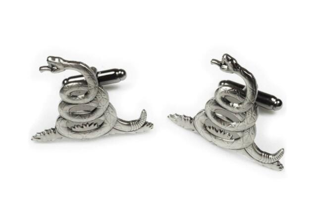 Dont Tread on Me Gadsden Flag Tea Party Navy Biker Harley Cufflinks Cuff Links