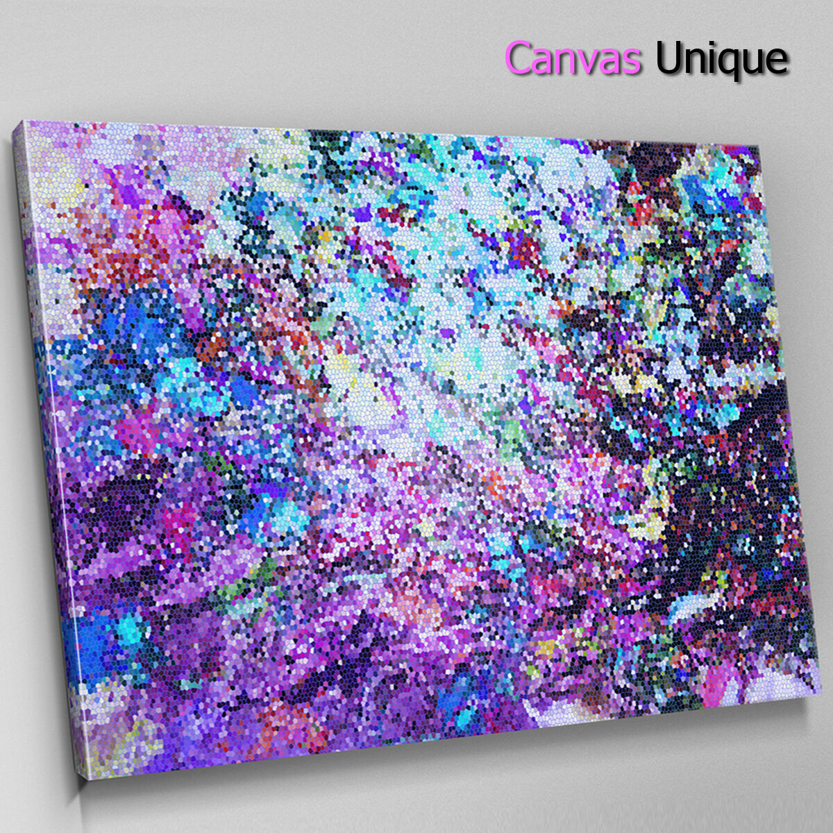 AB1524 lila grunge splatter Abstract Canvas Wall Art Framed Picture Print