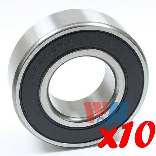 62206-2RS rubber seals bearing 62206-rs ball bearings 62206 rs 30x62x20