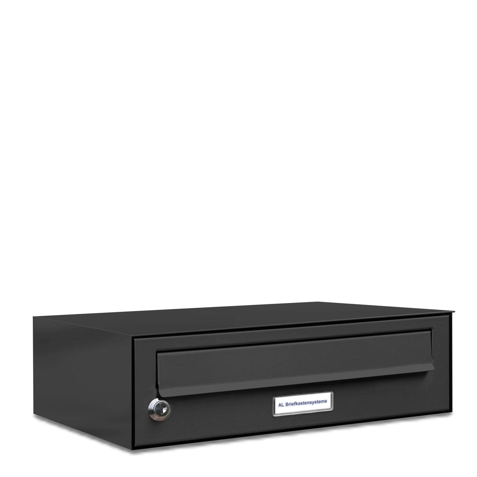 1 er Premium Wand Briefkasten Anthrazit RAL 7016 1 Fach Postkasten design A4