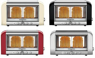 Magimix Vision 1450 W Double Insulated 2 Slice Toaster CHOOSE FROM 4 COLORS NEW