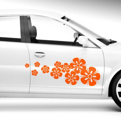 2x Seitendekor Blumen Abstrakt Motiv Blüten Blume Auto Aufkleber #1263