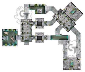 Water Temple Dungeon Tiles Set, Digital Download D&D RPG Dragons Dnd Pathfinder