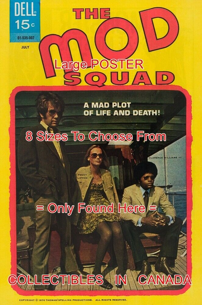 MOD SQUAD 1970  6 TV Show PEGGY LIPTON = POSTER Not Comic Book 8 GrößeS 18 -3 FT