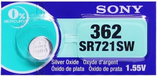 Pile Montre 1.55V SONY 362 Oxyde Argent AG11 SR721SW SR58 SR721 V362 D362 LR721
