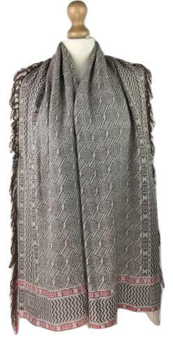 New Ladies Women Aztec Contrast Large Cotton Blend Scarf Pashmina Neckerchief