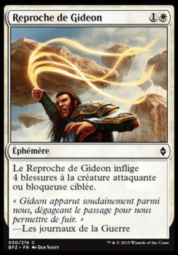 #30 BATTLE ZENDIKAR FRENCH Gideon/'s Reproach ▼▲▼4x  Reproche de Gideon