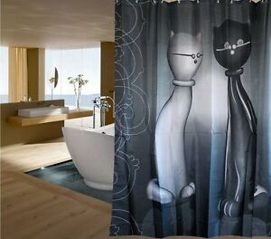 Spirit fabric shower curtain cats new free shipping