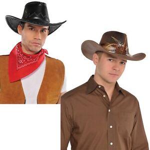 b58b315c35586 Adults Wild West Western Cowboy Cowgirl Hat Rodeo Saloon Fancy Dress ...