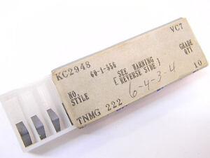 NEW-SURPLUS-10PCS-VALENITE-TNMG-222-GRADE-VC7-CARBIDE-INSERTS