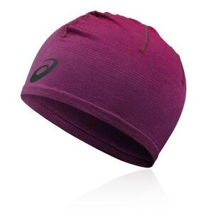 Asics-Unisexe-Sans-Ombre-Beanie-Violet-Sport-Running-Chaud-Respirant