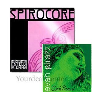 YDC Cello Strings  Set 4//4 Spirocore SILVER G,C Larsen Soloist A,D Medium