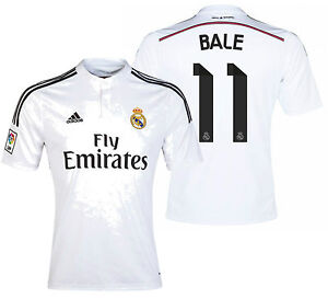 quality design fd3b1 a7ba3 Details about ADIDAS GARETH BALE REAL MADRID HOME JERSEY 2014/15