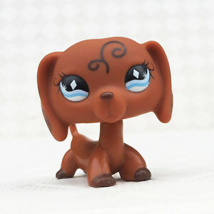 Lps Toys Rare Pet Shop Brown Dachshund Dog Puppy Blue Eyes No Magnet Ebay