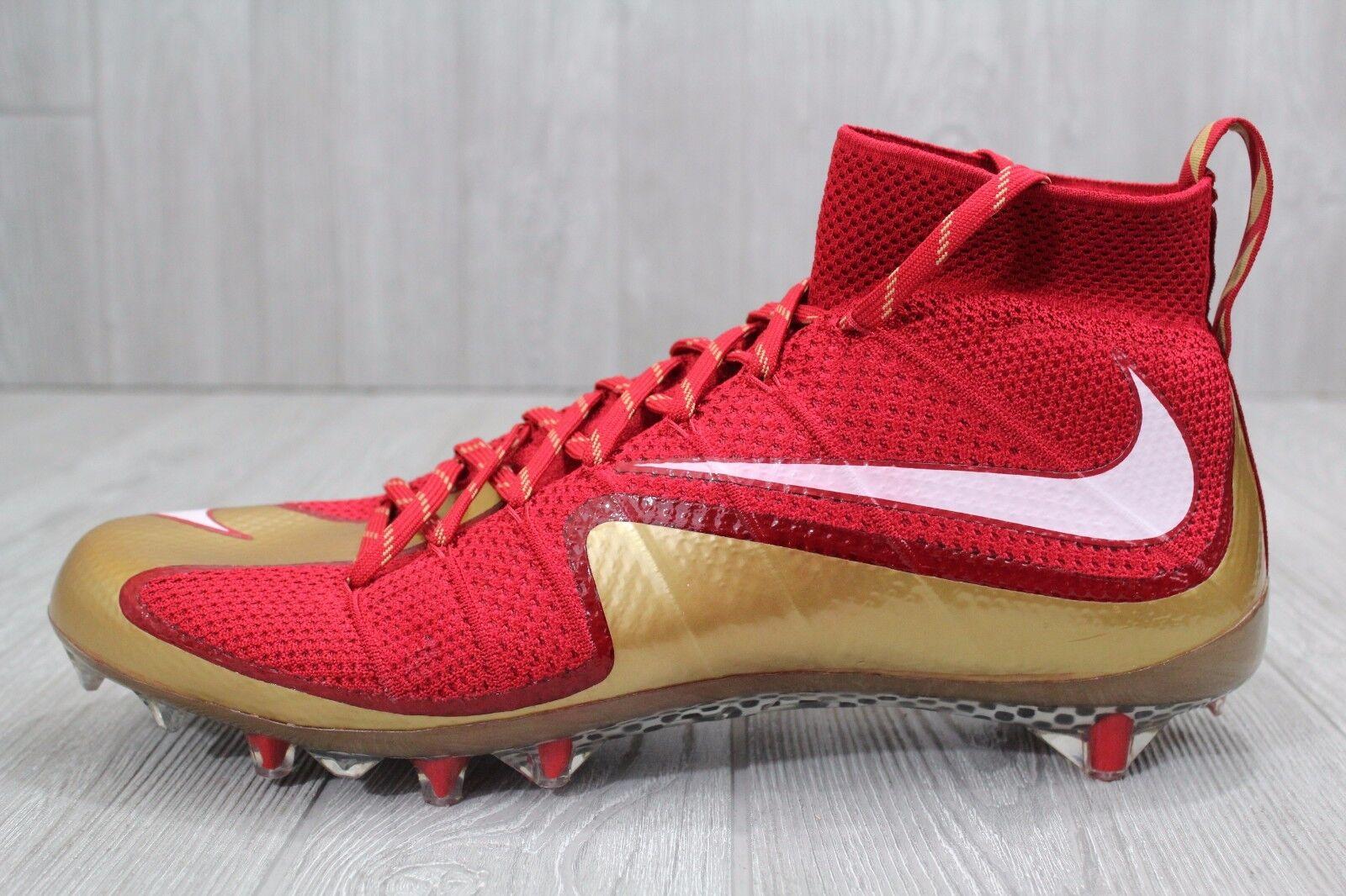 23 nike vapore oro intoccabile td football scarpe oro vapore rosso uomo numero 14 707455-628 2345e9
