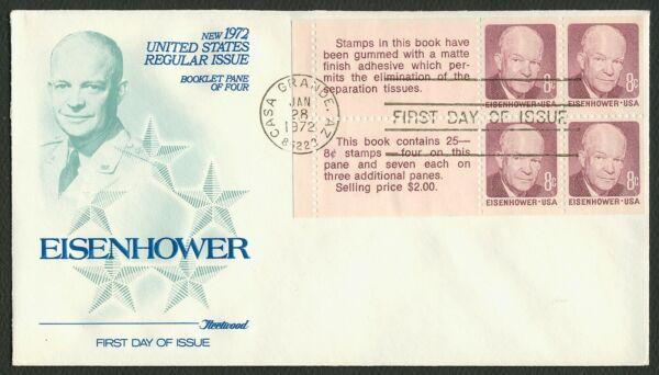 #1395c 8c Eisenhower, Fleetwood Premier Jour Any 4 = Prix ModéRé