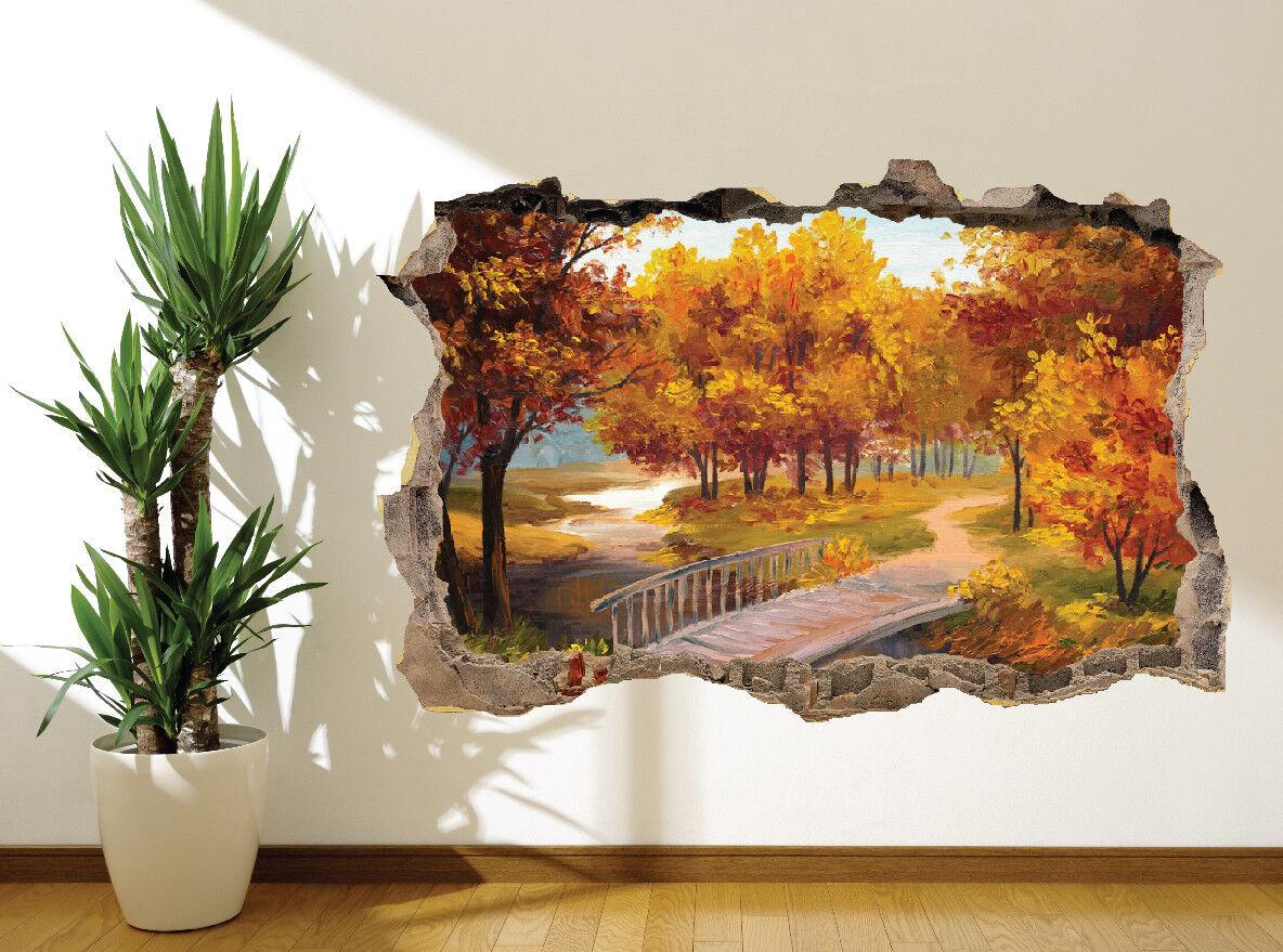 Huile Peinture Effet Babbling Brook et Pont Pont Pont Autocollant Mural Décoration | Se Vendant Bien Partout Dans Le Monde  4eb28f