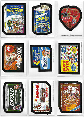 WACKY PACKAGES NEW OS 5 OLD SCHOOL SERIES 5 COMPLETE SET 33 WHITE BACKED CARDS