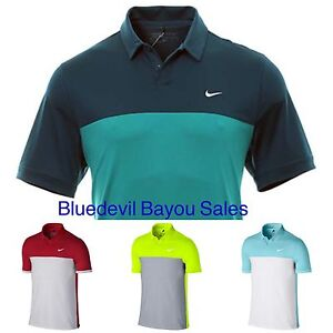 428e9e67ad Details about New Nike Dri Fit Icon Color Block Polo Golf Shirt 725527