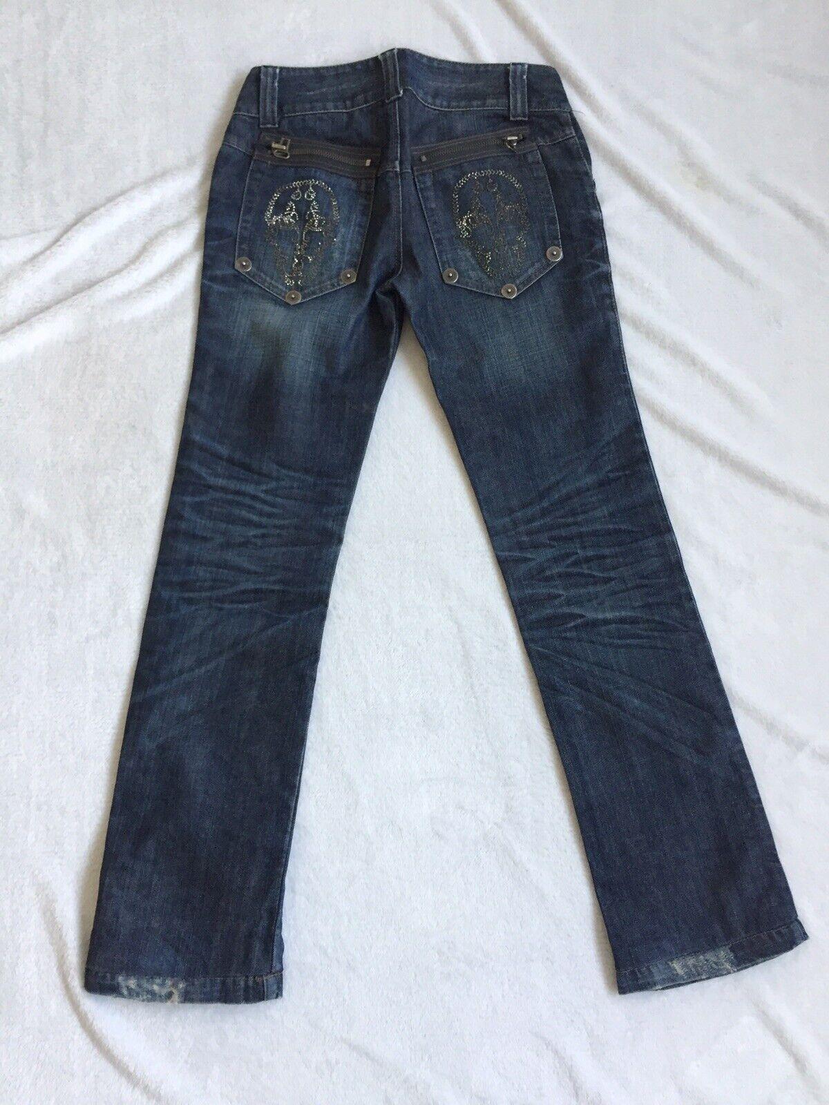 Thomas Wylde Jeans 28 Skull Skull Skull Nieten Conleys Impressionen | Ausreichende Versorgung  bd72b8