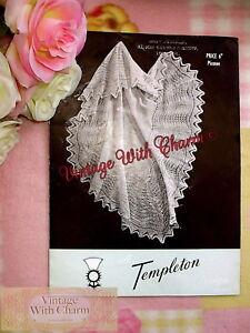 Vintage-Knitting-Pattern-1940s-Baby-039-s-Shetland-Shawl-ONLY-2-49-FREE-P-amp-P