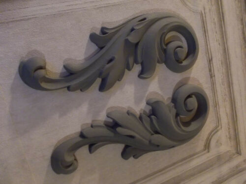 Grande paire de volutes décoratives Moulures meubles projet cheminée Armoire