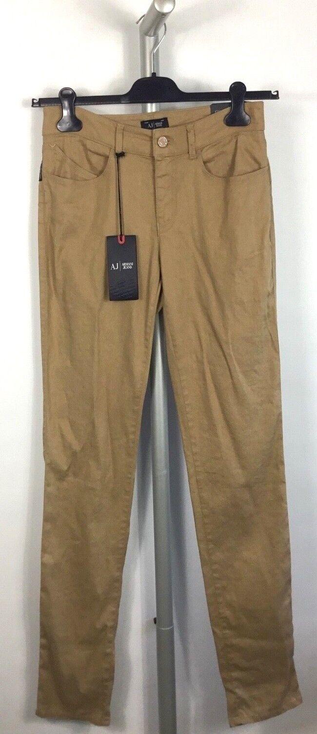 Armani Jeans J18 Sabbia Misto Lino Jeans Nuovo con Etichetta Taglie 8 11 13