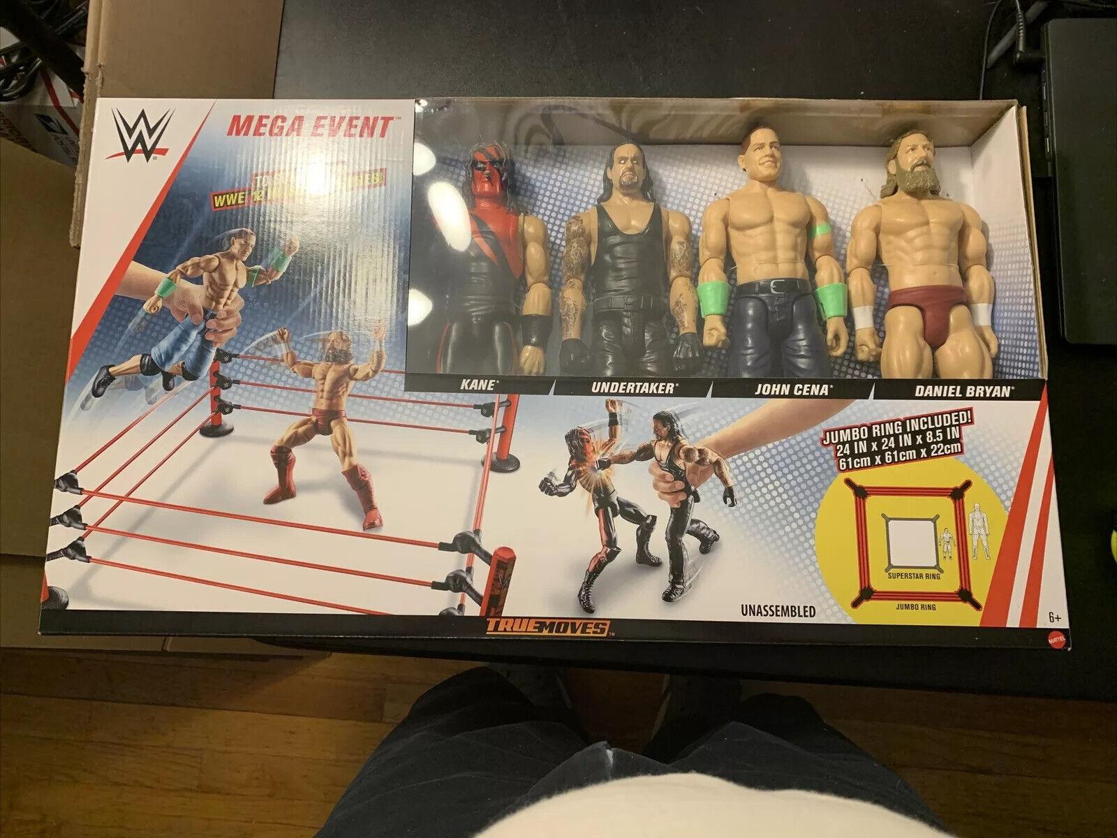 "12/"" figures de Kane WWE MEGA Event Jumbo-Ring CENA /& Bryan-Neuf Pompes funèbres"