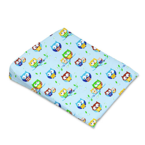 PILLOWCASE REPLACEMENT COVER MANY DESIGNS SIZE 59x37cm BABY COT WEDGE PILLOW