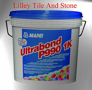 Details about Mapei Ultrabond P990 1K Wood Adhesive 15kg Tub + Spreading  Trowel