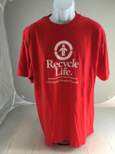 RECYCLE LIFE  Lds Hospital Transplant T-Shirt  GRE
