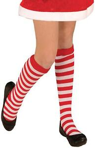 Red White Striped Socks Rag Doll Christmas Halloween Child Costume Accessory