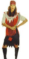 CARIBBEAN PIRATE LADIES FANCY DRESS COSTUME SMUGGLER WENCH UK 12/14 14/16 18/20