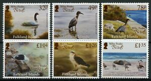 Falkland-Islands-Birds-on-Stamps-2020-MNH-Mike-Peake-Gulls-Hawks-Swans-6v-Set
