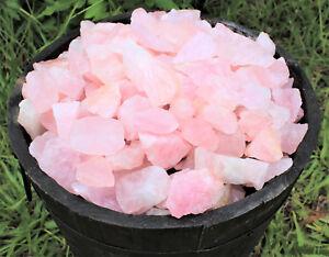 1/2 lb Bulk Lot Natural Rough Rose Quartz Crystals (Raw Reiki Love Healing 8 oz)