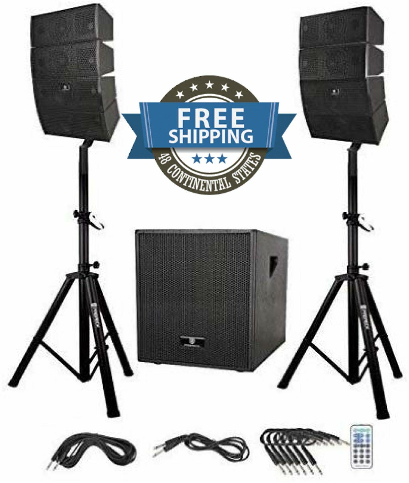 Lautsprecher steht Pair System Blautooth Outdoor Dance Party Mikrofon 12 In Set