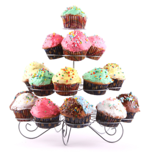 4 Tier Stand Holds 23 Cupcakes Cup Cake Holder Party Wedding Baby