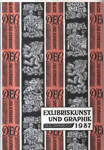 Consciencieux Exlibris-annuaire 1987, Exlibris Art Et Graphique, Deg-annuaire 1987-uch 1987, Exlibriskunst Und Graphik, Deg-jahrbuch 1987 Fr-fr Afficher Le Titre D'origine