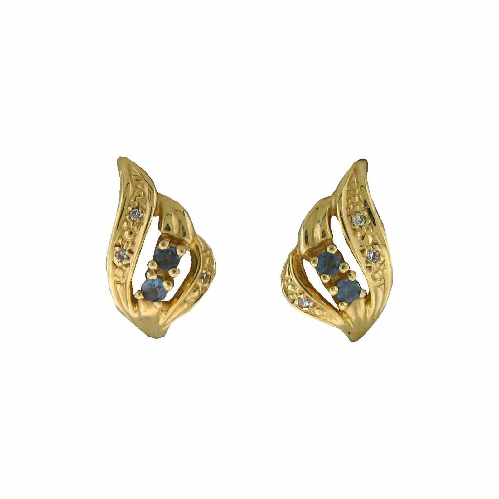 NATURAL Alexandrite color Change Diamond Earring in 14K YG  with Certificate