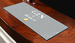 Grey Gin & Bear It Design Bar Runner Cocktail Party Pub Club Great Gift Idea