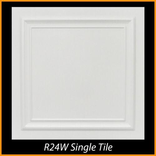 Ceiling Tiles Glue Up Styrofoam 20x20 R24 White Pack of 100 pcs 264 sq ft