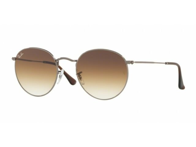 c36ee38a32 Sunglasses Ray-Ban Round Metal Rb3447n 004 51 50 Gunmetal Brown Gradient