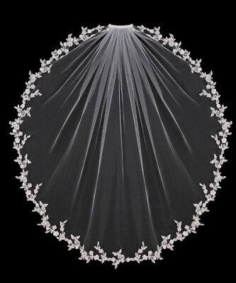 US White Ivory Elbow Wedding Veils 1 Tier Bridal Accessories Bride Length Comb