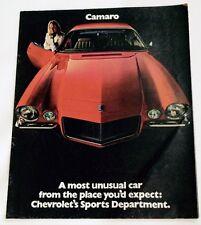 Original 1970 Chevrolet Camaro SS RS Z28 Dealer Brochure