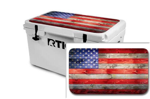 USATuff Wrap Sticker Decal Lid Kit fits Custom RTIC 65qt Cooler USA Flag WD Clr