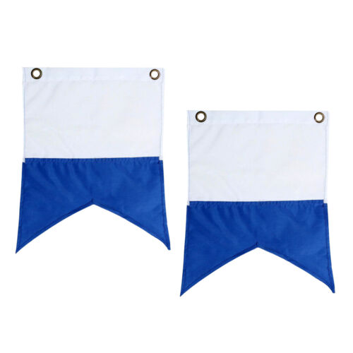 2 Pieces Polyester Scuba Diving Signal Safety Flags Snorkeling Boat Sign Banner