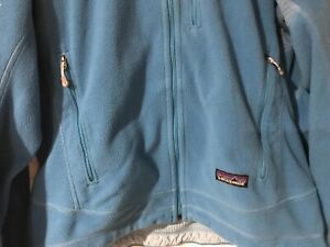 Patagonia-R-Regulator-Fleece-Jacket-Womens-SMALL-Blue-Full-Zip-Polartec-GUC